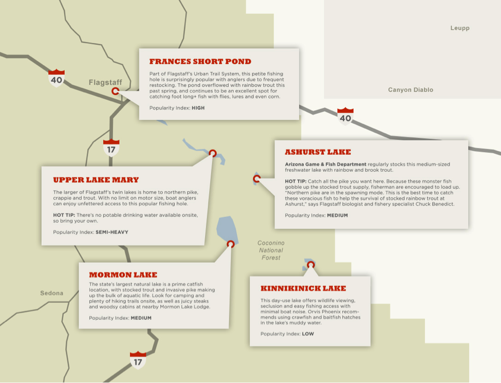 Map Of Flagstaff Arizona.Where To Fish In Flagstaff Map Blog Mormon Lake Lodge